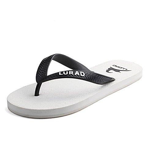 ALUK- Sommer Sandalen - Herren Füße Tragen Tragen Trend Einfache Strand Cool Pantoffeln ( Farbe : Weiß , größe : 42 ) Weiß