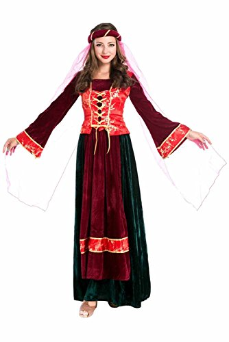 Arabische Prinzessin Kleid Cosplay Kostüm Rot (Arabische Rote Kostüm Prinzessin)