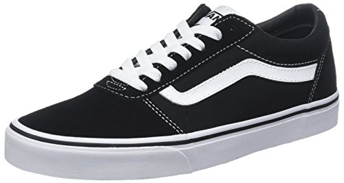 Vans Ward, Sneakers Basses Homme, Noir ((Suede/Canvas) Black/White C4R), 44 EU