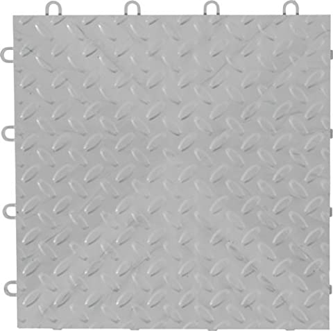 Gladiator GarageWorks GAFT04TTPS Silver Floor Tile, 4-Pack by Gladiator