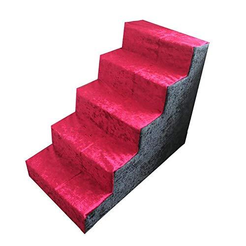 Haustiertreppe Hundetreppe Hunderampe Pet Walk Treppe Tiertreppe Einstiegshilfe Für Kleinere Hunde Katze Mit Abnehmbarer Bezug 75X60X40cm