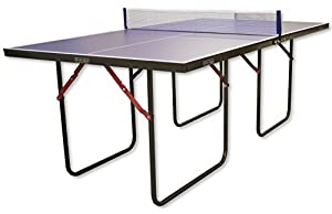 Blue Junior 3/4 Size Folding Ping Pong Table Tennis Table With Bats By Oxbridge Review 2018 by Oxbridge
