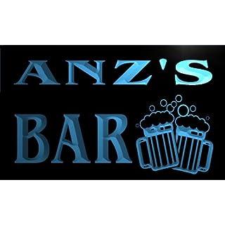 w075469-b ANZ Name Home Bar Pub Beer Mugs Cheers Neon Light Sign