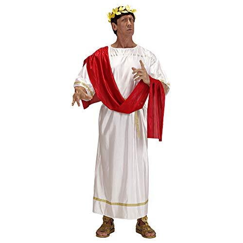 Widmann 3179N Erwachsenenkostüm Cäsar, Weiß, Rot, XL (Der Männer Toga)
