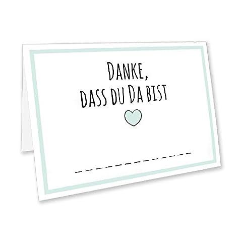 CUPCAKES & KISSES 50er Tischkarten Spar-Set / Namenskarten / Platzkarten für Hochzeit, Geburtstag, Feier, Dinner, Party, Konfirmation oder Taufe