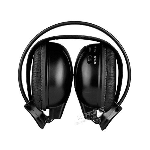 Xtrons IR Infrarot Kopfhörer schnurloses Headset kabellos Dual Channel 2 Kanäle mit integrierter-in IR Sender - Dual-channel-kopfhörer