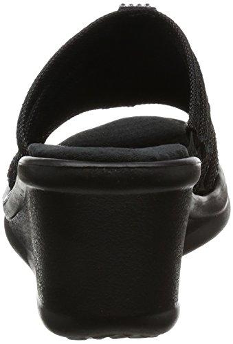 Skechers Rumblers Hot Shot Femmes Synthétique Sandale Black