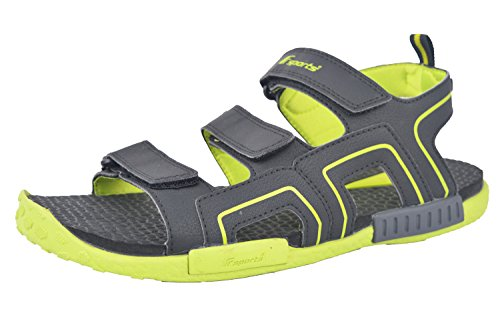 Fsports Men's Black Green Colour RUSSELL Series Synthetic Casual Sandal 10UK  available at amazon for Rs.706