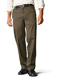 Dockers Men's Signature Khaki D2 Straight Fit Flat Front Pant,Branch,32x34