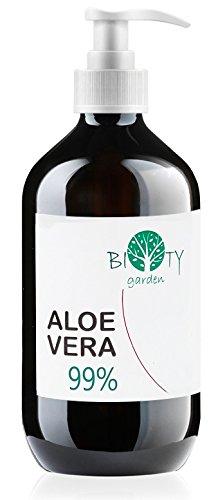 Aloe Vera Saft, flüssig, ohne Verdickungsmittel, gefiltert REINES ALOE VERA GEL 99% - 500 ML