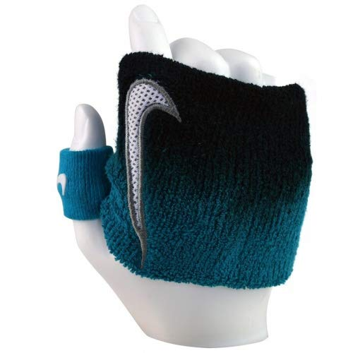 Nike Swoosh Muñequera Unisex Adjustable Blue Black