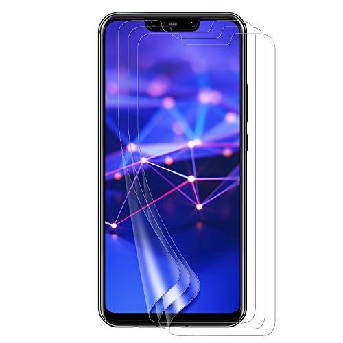 Bigmeda Schutzfolie für Huawei Mate 20 Lite,Blasenfrei, Anti-Kratzen, Anti-Öl, HD Klar Flexible Bildschirmschutzfolie für Huawei Mate 20 Lite Folie [3 Stück]