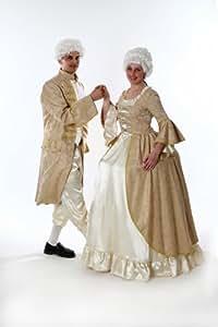 Rokoko Kleid für Damen Gr. XL Barock Kostüm gold/weiß THEATER QUALITÄT