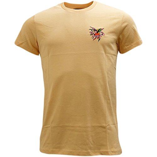 Ed Hardy Herren T-Shirt, Einfarbig Rot Rot Gr. L, - T-shirt Hardy Ed