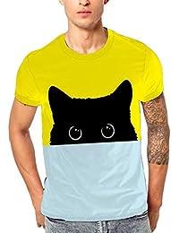 Kobay Nuovi Uomini di Modo 3D Flood Stampato a Maniche Corte T-Shirt  Camicetta Superiore 5e46285ac16d