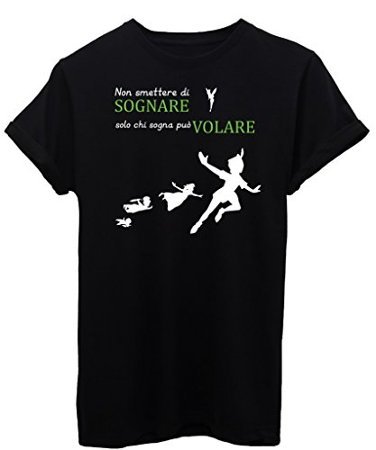 t-shirt-peter-pan-sognare-e-volare-famosi-by-image-donna-s-nera