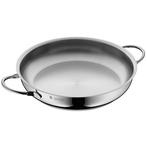 WMF serving pan uncoated Ø 28cm Profi Made in Germany pouring rim stainless steel handle Cromargan stainless steel suitable for induction dishwasher-safe