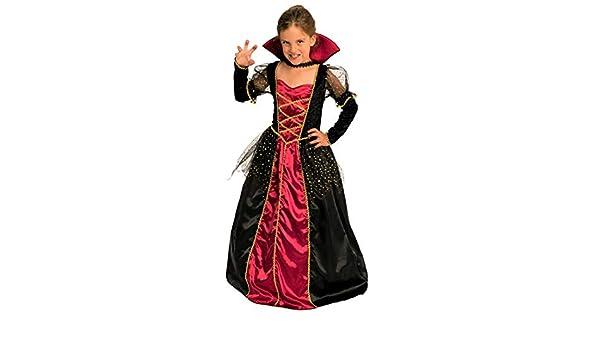Magicoo principessa vampiro costume Girls Kids Halloween rosso e nero -  Costume da bambino ragazze abito e collare  Amazon.it  Giochi e giocattoli 586ef5b8e1bb
