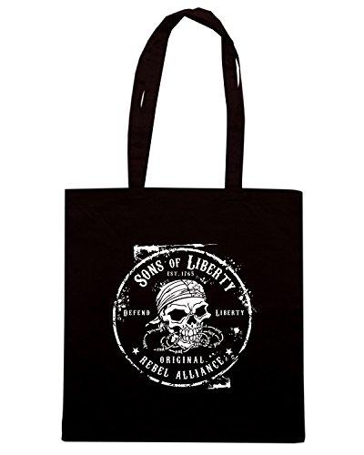 T-Shirtshock - Borsa Shopping TM0626 original rebel alliance Nero