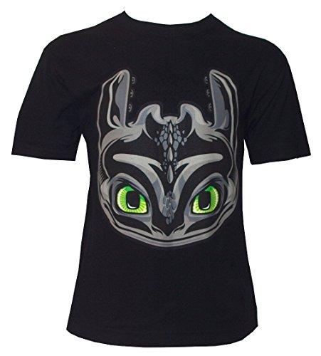Camiseta para Niño con Diseño de DreamWorks Cómo Entrenar a tu Dragón, Cabeza de Desdentado, Negro - 116/122