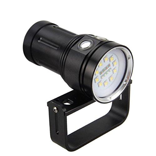 MuSheng 12,000 Lumen dauerhafte multifunktionale Unterwasserfotografie wasserdicht Taschenlampen blendung effekt taschenlampe beleuchtung