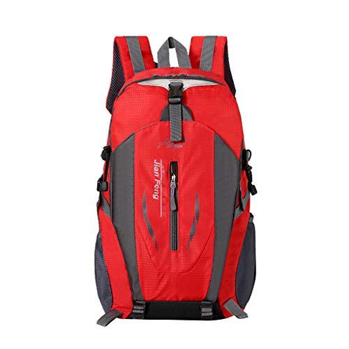 sack Trekkingrucksacke Professional Multifunktionale große Kapazität Wandern Umhängetasche (Rot) ()