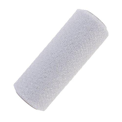 Tüll Silber Glitter (MagiDeal Glitter Tüll Rolle Tutu Hochzeit Party Crafts Geschenk Tüllband Rollenspule, 15 x 91.4cm, aus Gaze - Silber Weiß, 15 x 91.4cm)
