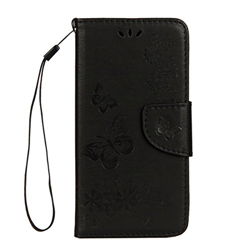 Custodia iPhone X, iPhone X Cover Wallet, SainCat Custodia in Pelle Flip Cover per iPhone X, Ultra Sottile Anti-Scratch Book Style Custodia Morbida Cover Protettiva Caso PU Leather Custodia Libretto A Nero #2