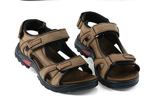 SHUNLIU Herren Touch Sport Sandalen Outdoor Schuhe Sandaletten Kühlen Khaki