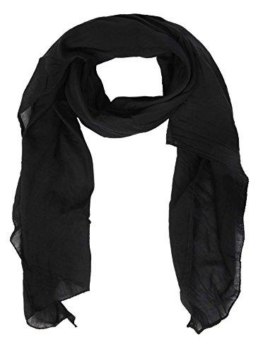 Zwillingsherz Seiden-Tuch für Damen Mädchen Uni Elegantes Accessoire/Baumwolle/Seiden-Schal/Halstuch/Schulter-Tuch oder Umschlagstuch einsetzbar - swr (Damen Schals Seide)