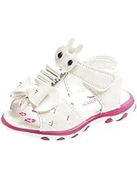 PAOLIAN Verano Zapatos Para Niñas Princesa Calzado Zapatos de Niñito Antideslizante Suela Blanda Zapatillas con Luces Sandalias de Vestir De 1T 2T 2.5T 3T 3.5T