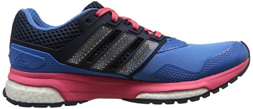adidas Response Boost 2 Techfit, Chaussures de Running Femme Bleu (Super Blue F15/Collegiate Navy/Super Pink F15)