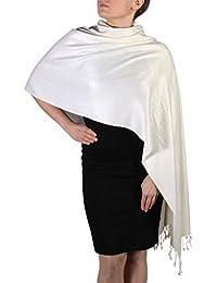 York Shawls Handcrafted Pashmina Wrap Shawl - Tassel Finishing - Free Hanger (25+ Colours)
