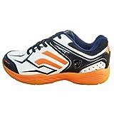 Yonex Unisex Tru Cushion & Tru Shape Non-Marking Badminton Court Shoes, White/Orange -8UK