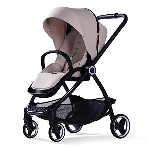 BLWX - Chariot de Poussette bébé bi-directionnel Haute Paysage Parapluie Voiture Pliante Portable Chariot pour Enfants Poussette (Couleur : Gray)