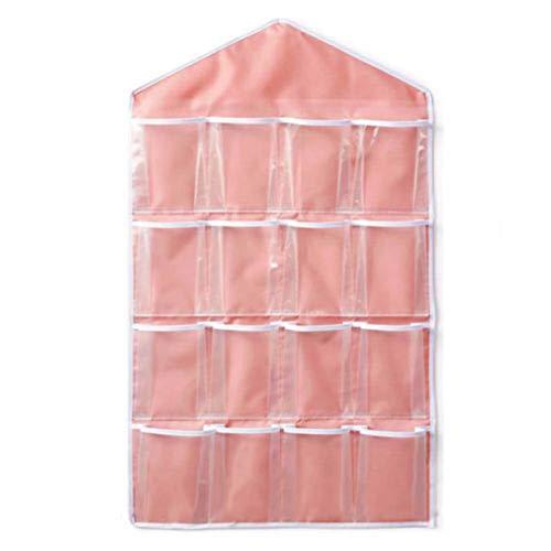 16 Taschen Klar Über Tür Hängen Tasche Kleiderbügel Lagerung Tidy Organizer Für Haus Badezimmer Wohnzimmer Haushalt Kleinigkeiten (Klar Der Rückseite Der Tür-organizer)