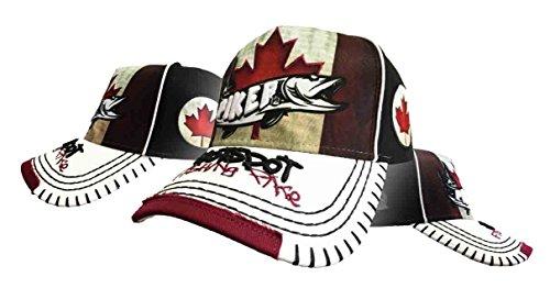 Hotspot Design Kappe Piker Canada, Cap Mit Hecht Und Canada Flagge, Einheitsgrösse