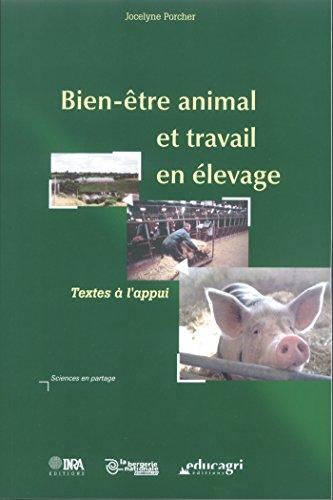 Bien-être animal et travail en élevage (Sciences en partage) par Jocelyne Porcher