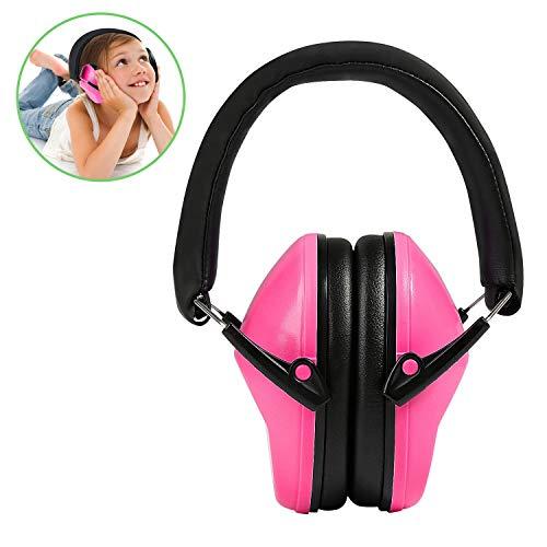 Kinder Gehörschutz, Ballery Kinder Rauschunterdrückung Gehörschutz, Ohrenschützer für Kinder, verstellbare Stirnband Gehörschutz für Kinder - Rosa
