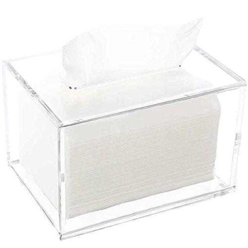 Sasa soggiorno in tessuto acrilico in plexiglass cartone a mano scatola di tovagliolo