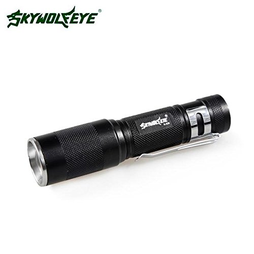 SKYWOLFEYE 4000lm Zoomable CREE XM-L Q5 LED Taschenlampe 3 Modus-Fackel Lampe helles Licht super, schwarz Led Lotus Lantern