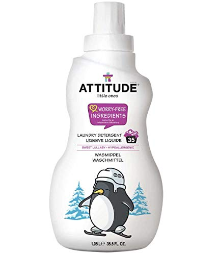 Attitude Littl eones Lessive Liquide pour machines 35, Sweet Lullaby, 1er Pack (1 x 1050 ml)