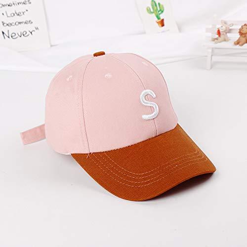 mlpnko Alphabet Harte Kinderbaseballmütze Neu Kinderhut Baby Sonnenhut Sonnenschutz Baseballmütze - pink 50-52cm geeignet für 2-5 Jahre alt