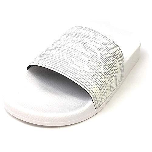 Flipflops/Sandalen/Badeschuhe aus Gummi Solar_Slid_Logo 10208293 01 (45, Silver (040))