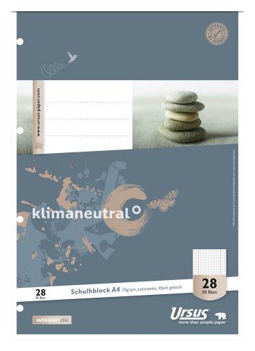 10 Stück Ursus Schulblöcke / DIN A4 / kariert / 70 g/m² / 50 Blatt