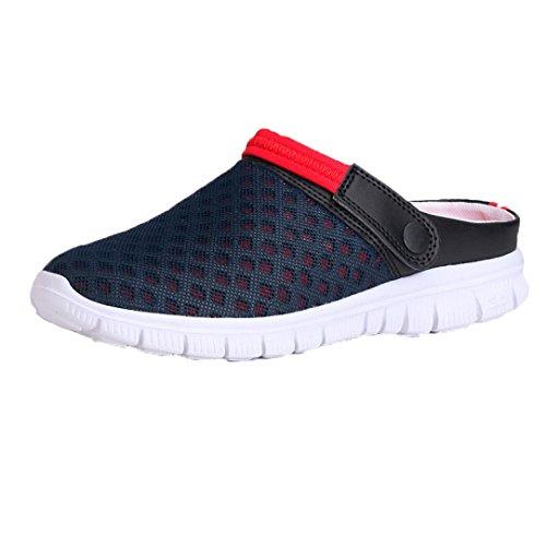 26ddee3a Hombres Mujeres Sandalia de Verano Malla Transpirable Zapatos Chancletas de  Playa Acolchada Calzado Chancletas Tacones ❤ Manadlian (CN:41, Azul Oscuro)