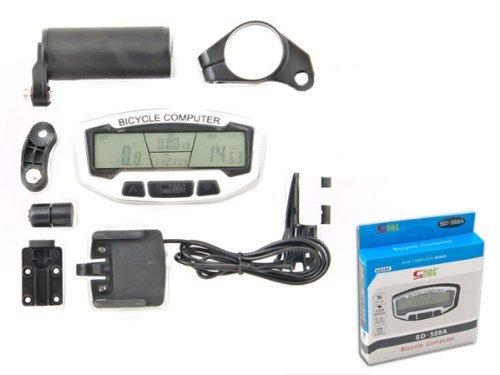 HUKITECH Intelligenter Fahrradcomputer - 28 Funktionen / LCD-Display / Blaue Beleuchtung