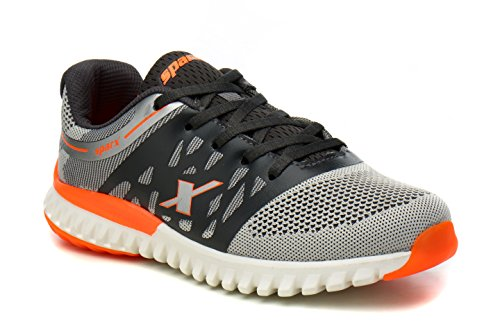 Sparx Men SM-345 Grey & Flourscent Orange Running Shoes