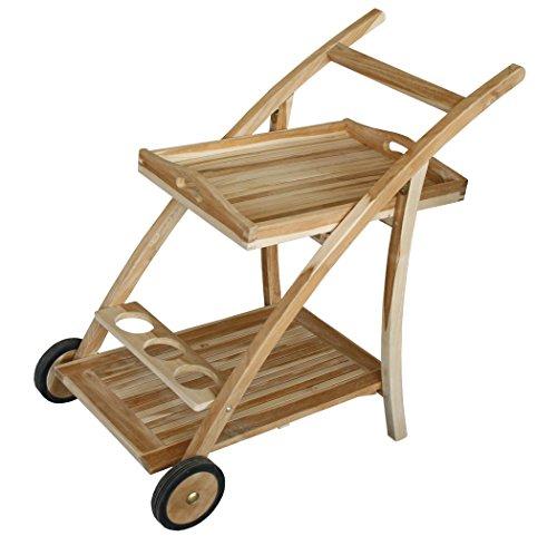 KMH®, Teewagen / Gartentrolley / Servierwagen aus Teak (#102119)