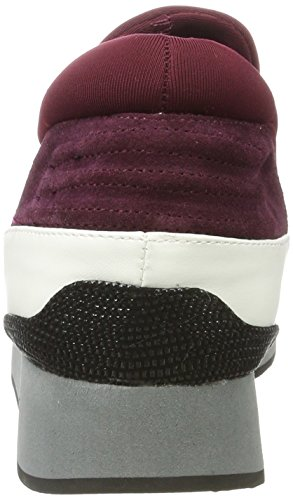 Fornarina Damen Next Sneaker Rot (Black/Bordeaux)